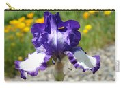 Iris Flower Purple White Irises Nature Landscape Giclee Art Prints Baslee Troutman Carry-all Pouch