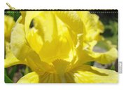 Iris Flower Yellow Macro Close Up Irises 30 Sunlit Iris Art Print Baslee Troutman Carry-all Pouch