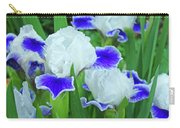 Iris Flowers Art Prints Blue White Irises Floral Baslee Troutman Carry-all Pouch