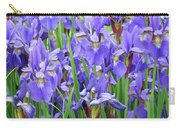 Iris Flowers Artwork Purple Irises 9 Botanical Garden Floral Art Baslee Troutman Carry-all Pouch