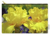 Iris Flowers Garden Art Yellow Irises Baslee Troutman Carry-all Pouch