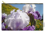 Iris Flowers Purple White Irises Poppy Hillside Landscape Art Prints Baslee Troutman Carry-all Pouch