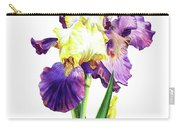 Iris Flowers Watercolor  Carry-all Pouch