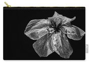 Iris In Black And White Carry-all Pouch