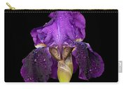 Iris On Black Carry-all Pouch