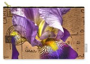 Iris On Vintage 1912 Postcard Carry-all Pouch