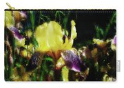 Iris Purple And Yellow Carry-all Pouch