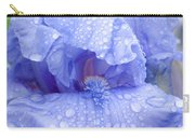 Iris Rainy Day Blue Carry-all Pouch