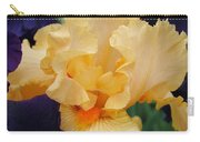 Irises Art Prints Peach Iris Flowers Artwork Floral Botanical Art Baslee Troutman Carry-all Pouch