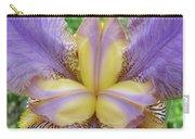 Irises Art Purple Yellow Iris Flowers Giclee Prints Baslee Troutman  Carry-all Pouch