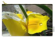 Irises Artwork Iris Flowers Art Prints Flower Rain Drops Floral Botanical Art Baslee Troutman Carry-all Pouch