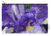 Irises Artwork Purple Iris Flowers Art Prints Canvas Baslee Troutman Carry-all Pouch