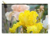Irises Botanical Garden Yellow Iris Flowers Giclee Art Prints Baslee Troutman Carry-all Pouch