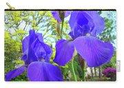 Irises Floral Garden Art Print Blue Purple Iris Flowers Baslee Troutman Carry-all Pouch