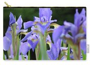 Irises Flowers Art Prints Blue Purple Iris Floral Baslee Troutman Carry-all Pouch