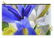 Irises Flowers Artwork Blue Purple Iris Flowers 1 Botanical Floral Garden Baslee Troutman Carry-all Pouch