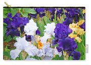 Irises Flowers Garden Botanical Art Prints Baslee Troutman Carry-all Pouch