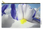 Irises White Iris Flowers 15 Purple Irises Art Prints Floral Artwork Carry-all Pouch