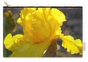 Irises Yellow Iris Flowers Art Prints Floral Canvas Baslee Troutman Carry-all Pouch