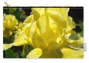 Irises Yellow Iris Flowers Floral Art Prints Botanical Garden Artwork Giclee Carry-all Pouch