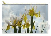 Irises Yellow White Iris Flowers Storm Clouds Sky Art Prints Baslee Troutman Carry-all Pouch