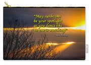 Irish Blessing - May Sunbeams Be Your Spotlight Carry-all Pouch