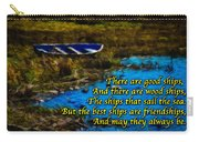 Irish Blessing - There Are Good Ships... Carry-all Pouch