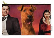 Irish Terrier Art Canvas Print - Gone To The Wind Movie Poster Carry-all Pouch