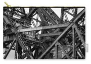 Iron Bridge Close Up In Black And White Carry-all Pouch