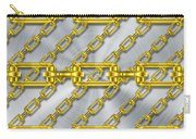Iron Chains With Brushed Metal Texture Carry-all Pouch