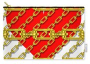 Iron Chains With Heart Texture Carry-all Pouch