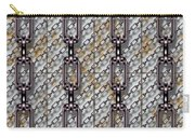 Iron Chains With Metal Panels Seamless Texture Carry-all Pouch