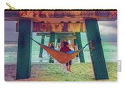 Island Dreams Under The Pier Watercolors Painting Carry-all Pouch