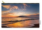 Island Gold - An Amazingly Golden Sunset On The Beach In Hawaii Carry-all Pouch