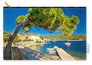 Island Of Vis Seafront Walkway View Carry-all Pouch
