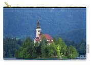 Island With Church On Bled Lake, Slovenia Carry-all Pouch