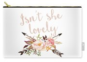 Isn't She Lovely Boho Arrow Watercolor Blush Decor Print Carry-all Pouch