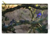Isolated Blue Bird Carry-all Pouch
