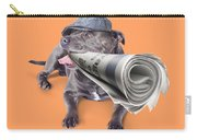 Isolated Newspaper Dog Carrying Latest News Carry-all Pouch