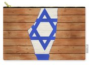 Israel Rustic Map On Wood Carry-all Pouch