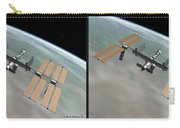 Iss - Gently Cross Your Eyes And Focus On The Middle Image Carry-all Pouch