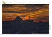 Istanbul Sunset - A Call To Prayer Carry-all Pouch by David Smith