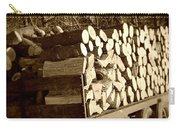 It Warms You Twice Sepia Carry-all Pouch
