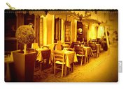Italian Cafe In Golden Sepia Carry-all Pouch