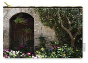 Italian Front Door Adorned With Flowers Carry-all Pouch