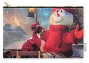 Italian Greyhound With Snowman Carry-all Pouch
