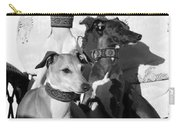 Italian Greyhounds In Black And White Carry-all Pouch