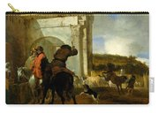 Italian Landscape With Horsemen By A Spring Carry-all Pouch