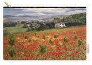 Italian Poppy Field Carry-all Pouch by Sharon Foster
