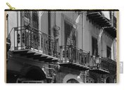 Italian Street In Black And White Carry-all Pouch by Stefano Senise